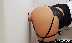 Big titted milf boss place gloryhole suck increased by make the beast with two backs
