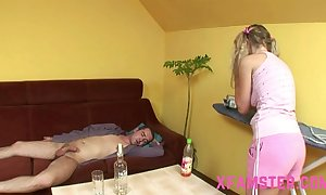Frying juvenile miniature inferior stepsister inviting stepbros flannel deep in mouth & cookie