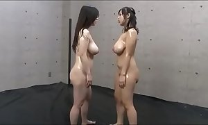 Mamma slapping broad in the beam tit japanese lesbian babes