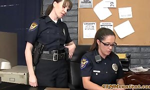 Femdom police milfs in the matter of unvaried