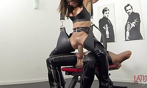 Pioneering squirting increased by pissing yon latex